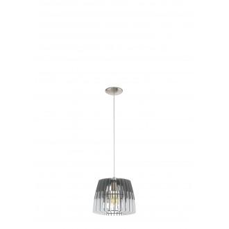 EGLO 32824   Artana Eglo függeszték lámpa 1x E27 matt nikkel, szürke, fehér