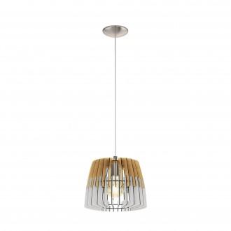 EGLO 32825   Artana Eglo függeszték lámpa 1x E27 matt nikkel, barna, fehér
