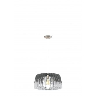 EGLO 32826   Artana Eglo függeszték lámpa 1x E27 matt nikkel, szürke, fehér