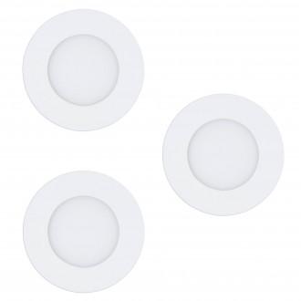 EGLO 32881 | EGLO-Connect-Fueva Eglo beépíthető okos világítás kerek szabályozható fényerő, állítható színhőmérséklet, színváltós, 3 darabos szett Ø85mm 3x LED 1080lm 2700 <-> 6500K fehér