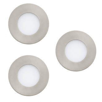 EGLO 32882 | EGLO-Connect-Fueva Eglo beépíthető okos világítás kerek szabályozható fényerő, állítható színhőmérséklet, színváltós, 3 darabos szett Ø85mm 3x LED 1080lm 2700 <-> 6500K matt nikkel, fehér