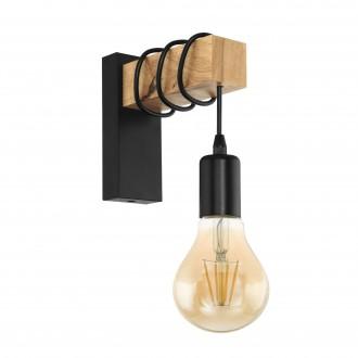 EGLO 32917 | Townshend Eglo falikar lámpa 1x E27 fekete, barna