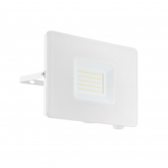 EGLO 33155 | Faedo Eglo fényvető lámpa - Samsung Chip négyzet elforgatható alkatrészek 1x LED 4800lm 4000K IP65 fehér, áttetsző