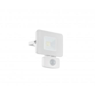 EGLO 33156 | Faedo Eglo fényvető lámpa - Samsung Chip mozgásérzékelő, fényérzékelő szenzor - alkonykapcsoló elforgatható alkatrészek 1x LED 900lm 4000K IP44 fehér, áttetsző