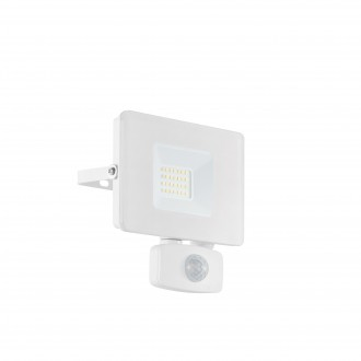 EGLO 33157 | Faedo Eglo fényvető lámpa - Samsung Chip mozgásérzékelő, fényérzékelő szenzor - alkonykapcsoló elforgatható alkatrészek 1x LED 1800lm 4000K IP44 fehér, áttetsző