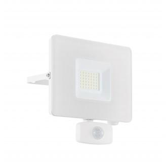 EGLO 33158 | Faedo Eglo fényvető lámpa - Samsung Chip mozgásérzékelő, fényérzékelő szenzor - alkonykapcsoló elforgatható alkatrészek 1x LED 2750lm 4000K IP44 fehér, áttetsző