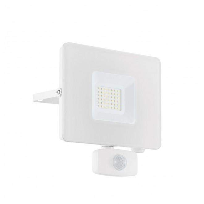 EGLO 33158   Faedo Eglo fényvető lámpa - Samsung Chip mozgásérzékelő, fényérzékelő szenzor - alkonykapcsoló elforgatható alkatrészek 1x LED 2750lm 4000K IP44 fehér, átlátszó