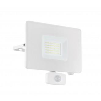EGLO 33159 | Faedo Eglo fényvető lámpa - Samsung Chip mozgásérzékelő, fényérzékelő szenzor - alkonykapcsoló elforgatható alkatrészek 1x LED 4800lm 5000K IP44 fehér