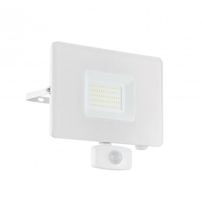 EGLO 33159 | Faedo Eglo fényvető lámpa - Samsung Chip mozgásérzékelő, fényérzékelő szenzor - alkonykapcsoló elforgatható alkatrészek 1x LED 4800lm 4000K IP44 fehér, áttetsző