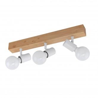 EGLO 33171 | Townshend-3 Eglo spot lámpa elforgatható alkatrészek 3x E27 barna, fehér