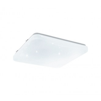 EGLO 33607 | Frania-S Eglo fali, mennyezeti lámpa négyzet 1x LED 1350lm 4000K fehér, kristály hatás