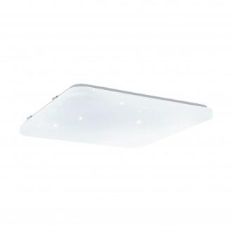 EGLO 33611 | Frania-S Eglo mennyezeti lámpa négyzet állítható színhőmérséklet 1x LED 4600lm 3000 <-> 5000K fehér, kristály hatás