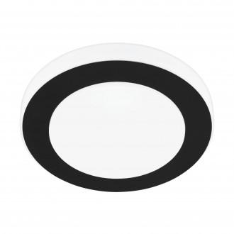 EGLO 33682 | Carpi-LED Eglo fali, mennyezeti lámpa kerek 1x LED 950lm 3000K IP44 fekete, fehér