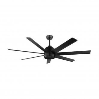 EGLO 35019 | Azar-60 Eglo ventilátor mennyezeti távirányító állítható magasság matt fekete