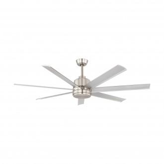 EGLO 35021 | Azar-60 Eglo ventilátor mennyezeti távirányító állítható magasság szatén nikkel, csiszolt alumínium
