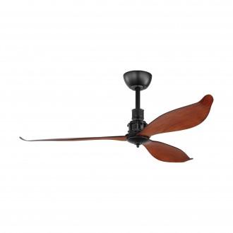 EGLO 35026   Lagos-52 Eglo ventilátor mennyezeti távirányító időkapcsoló matt fekete, barna