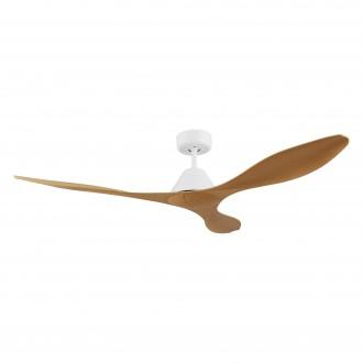 EGLO 35069 | Antibes-EG Eglo ventilátor mennyezeti távirányító időkapcsoló matt fehér, bambusz