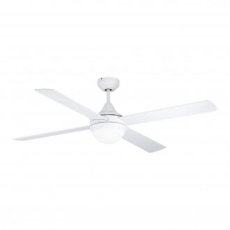 EGLO 35082 | Varadero Eglo ventilátoros lámpa mennyezeti távirányító időkapcsoló 2x E27 matt fehér, tölgy