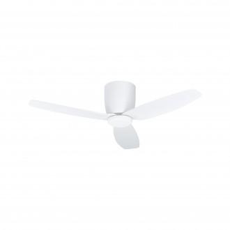 EGLO 35086 | Bavaro Eglo ventilátoros lámpa mennyezeti távirányító időkapcsoló, UV álló műanyag 1x LED 1850lm 4000K UV matt fehér