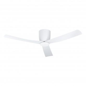 EGLO 35087 | Lerici Eglo ventilátoros lámpa mennyezeti távirányító szabályozható fényerő, állítható színhőmérséklet, időkapcsoló, UV álló műanyag 1x LED 1600lm 2700 <-> 6500K UV matt fehér