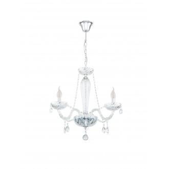 EGLO 39098 | Basilano Eglo csillár lámpa 3x E14 króm, áttetsző