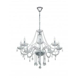 EGLO 39101 | Basilano Eglo csillár lámpa 8x E14 króm, áttetsző