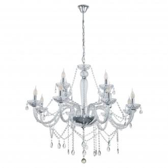 EGLO 39102 | Basilano Eglo csillár lámpa 12x E14 króm, áttetsző