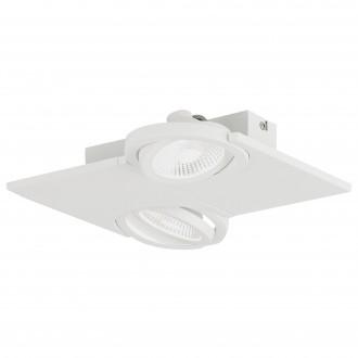 EGLO 39134   Brea Eglo fali, mennyezeti lámpa elforgatható fényforrás 2x LED 960lm 3000K fehér, áttetsző, szatén