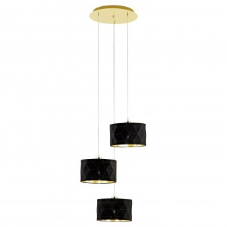 EGLO 39226 | Dolorita Eglo függeszték lámpa 3x E27 sárgaréz, fekete, arany