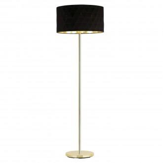EGLO 39228 | Dolorita Eglo álló lámpa 162cm taposókapcsoló 3x E27 sárgaréz, fekete, arany