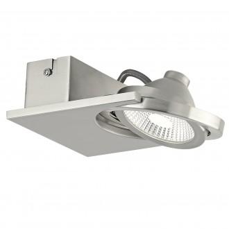 EGLO 39247   Brea Eglo fali, mennyezeti lámpa elforgatható fényforrás 1x LED 480lm 3000K matt nikkel, fehér, áttetsző
