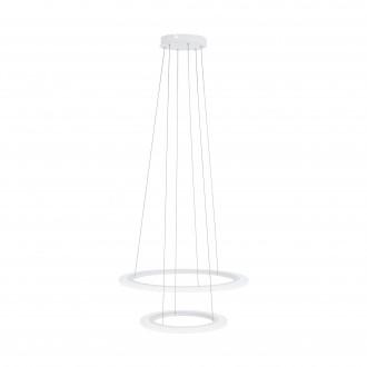 EGLO 39273 | Penaforte Eglo függeszték lámpa kerek szabályozható fényerő 1x LED 2100lm + 1x LED 3600lm 3000K fehér