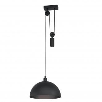 EGLO 43435 | Winkworth-1 Eglo függeszték lámpa ellensúlyos, állítható magasság 1x E27 fekete