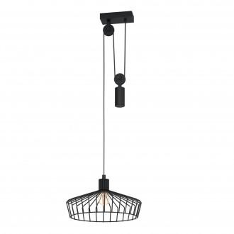 EGLO 43437   Winkworth Eglo függeszték lámpa ellensúlyos, állítható magasság 1x E27 fekete