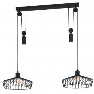 EGLO 43438 | Winkworth Eglo függeszték lámpa ellensúlyos, állítható magasság 2x E27 fekete