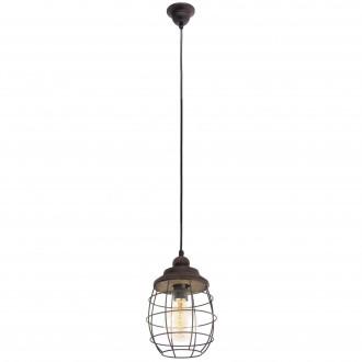 EGLO 49219 | Bampton Eglo függeszték lámpa 1x E27 antikolt barna, fekete