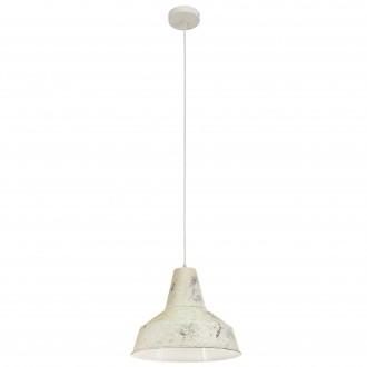 EGLO 49249 | Somerton Eglo függeszték lámpa 1x E27 antikolt fehér, fehér