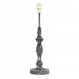 EGLO 49304 | Vintage-1+1 Eglo asztali lámpa - búra nélkül 42cm vezeték kapcsoló 1x E14 antikolt szürke