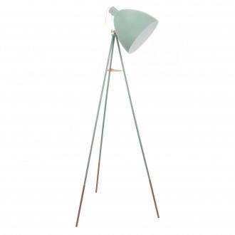 EGLO 49342 | Dundee Eglo álló lámpa 135,5cm húzókapcsoló 1x E27 menta