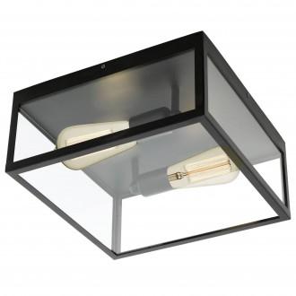 EGLO 49392 | Charterhouse Eglo mennyezeti lámpa 2x E27 fekete, áttetsző