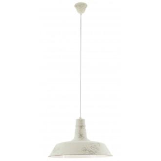 EGLO 49398   Somerton_1 Eglo függeszték lámpa 1x E27 antikolt fehér