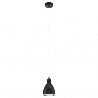 EGLO 49464 | Priddy Eglo függeszték lámpa 1x E27 fekete, fehér