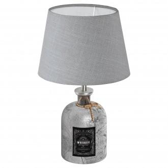 EGLO 49667 | Mojada Eglo asztali lámpa 33cm vezeték kapcsoló 1x E27 ezüst, szürke