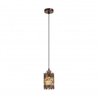 EGLO 49766 | Jadida Eglo függeszték lámpa 1x E27 antik vörösréz, színes