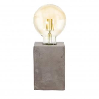 EGLO 49812 | Prestwick Eglo asztali lámpa 13cm vezeték kapcsoló 1x E27 szürke