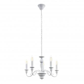 EGLO 49851 | Caposile Eglo csillár lámpa 5x E14 fehér