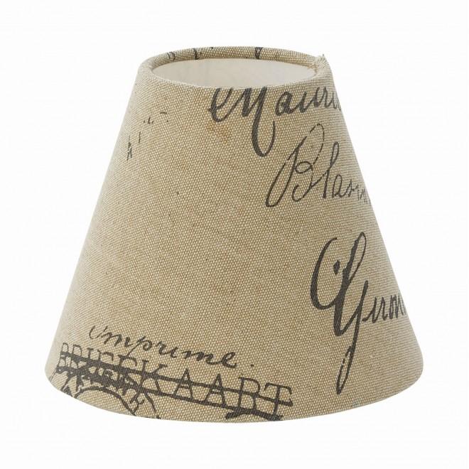 EGLO 49985   Vintage-1+1 Eglo ernyő lámpabúra E14 / E27 bézs, barna