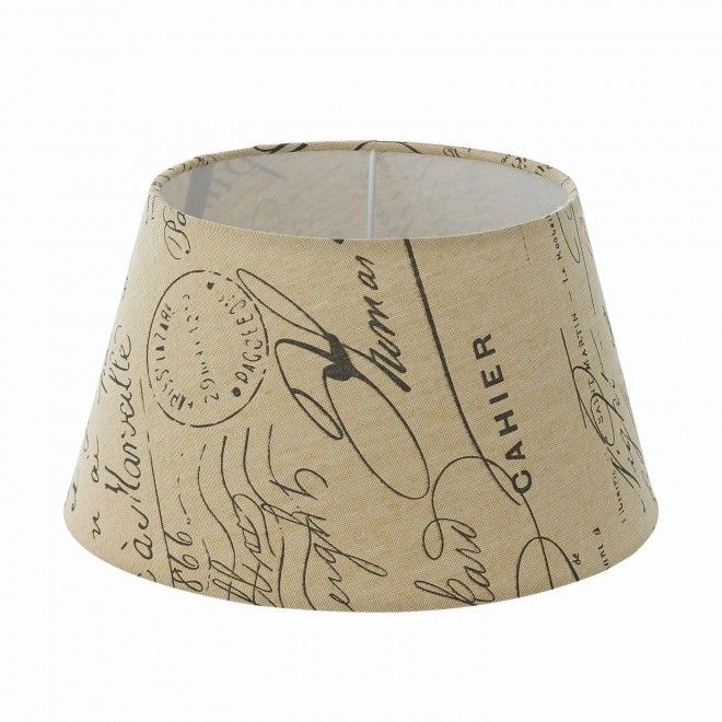 EGLO 49987 | Vintage-1+1 Eglo ernyő lámpabúra E14 / E27 bézs, barna