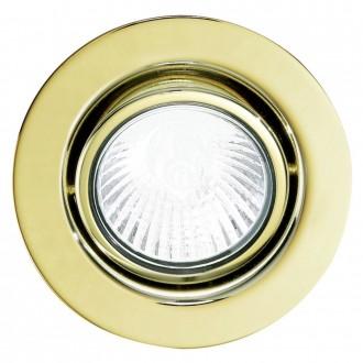 EGLO 5498 | EinbauSpoT12V Eglo beépíthető lámpa 3 darabos szett, billenthető Ø85mm 3x GY6.35 sárgaréz
