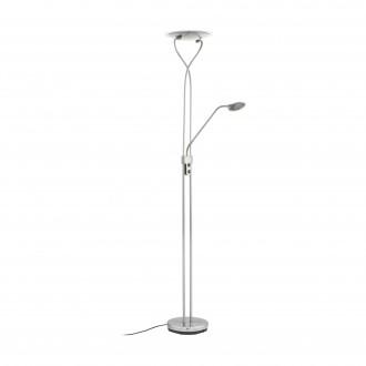 EGLO 75317 | Penja-1 Eglo álló lámpa 180cm kapcsoló 1x LED 1521lm + 1x LED 470lm 3000K matt nikkel, szatén